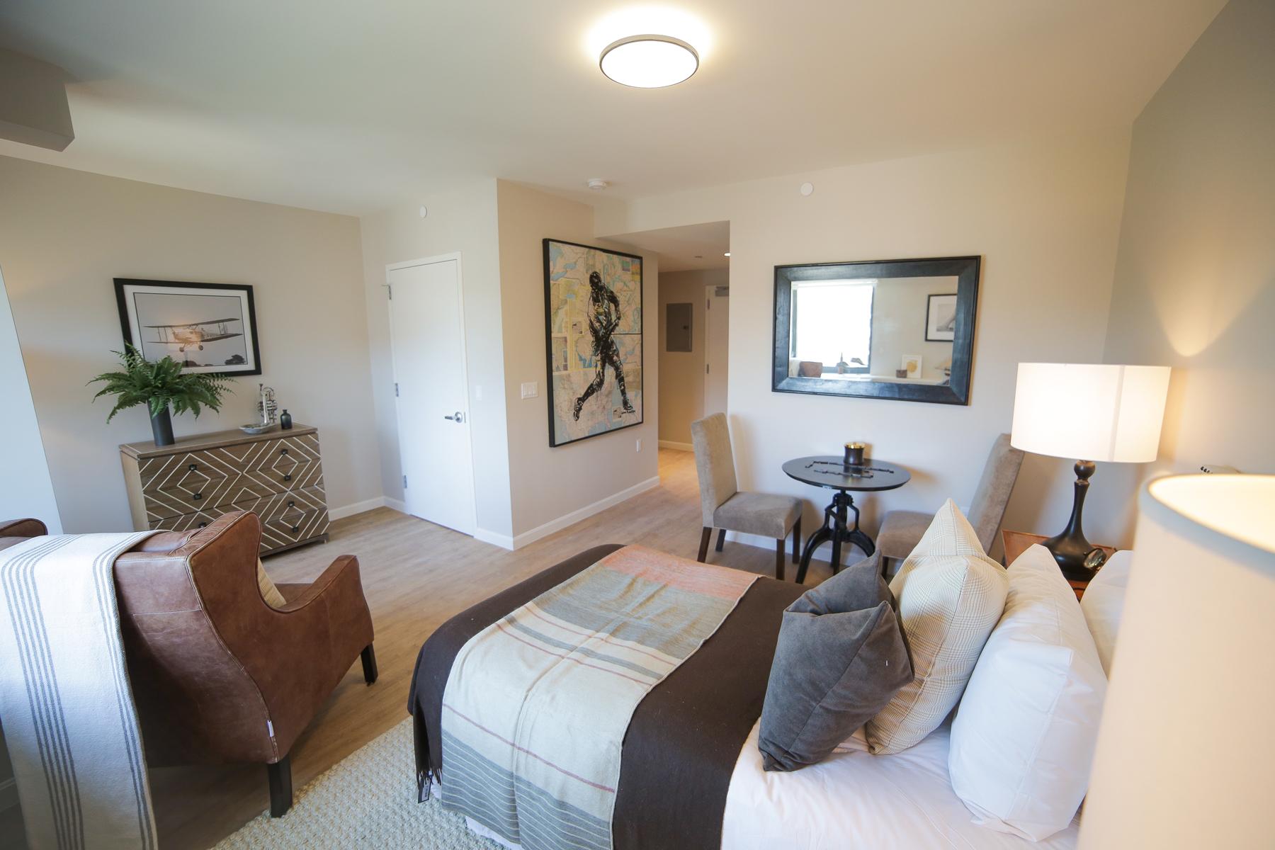 A Studio Plus Bedroom featuring an open floor plan.